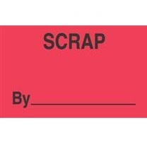 "Label,3x5,""Scrap ""500/rl flourescent Red/Black"