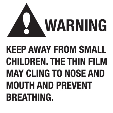 "Label, 2"" x 2"", ""Warning Keep Away From Small Children"","