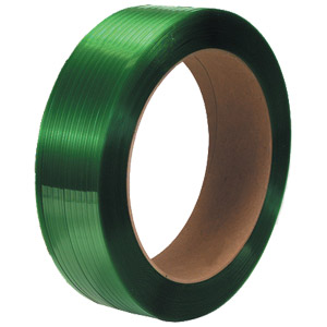 Polyester Strap 5/8X.035X4000' Green, 16X6 Core, 28/Sk
