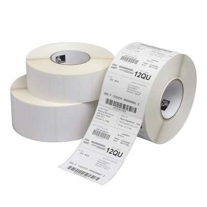 "Label,2x1,Thermal transfer, zebra, 3"" core 5,100 per roll,"