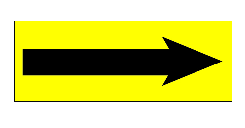 "1-1/2""X4"" Florescent Yellow Arrow label, 500 per roll"