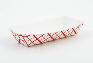 Tray, Paper, hot dog tray, 7"
