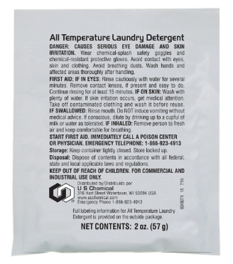 Soap,Laundry,All Temp 72 2oz Packet/Cs