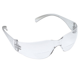 Safety Glasses, Anti-Fog, +2 Diopter, 3M Virtua Reader,