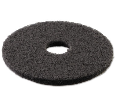 "Floor Pad, 14"", Black Stripping, 5/Case"