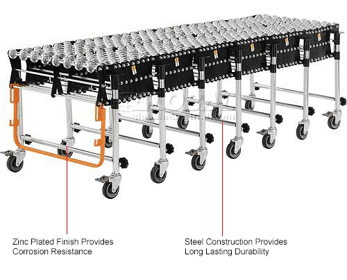 "Conveyor, Portable, Flexible, Expandable , 24""w, 6'2"" to"
