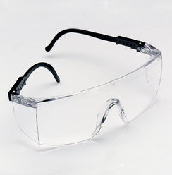 3M See-pro Safety glasses over glasses, clear w/black