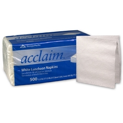 Napkin, 13X12, 1 Ply, 1/4 Fold White, Lunch & Dinner,