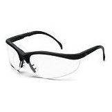 Safety Glasses, Klondike Clear With Black Frames