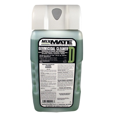 "Germacidal Cleaner,""D""Mixmate 2/3100ML Cartridge/Case"