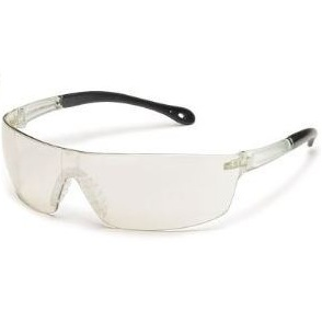 Glasses, Safety, w/nose piece modern square wraparound,10/bx