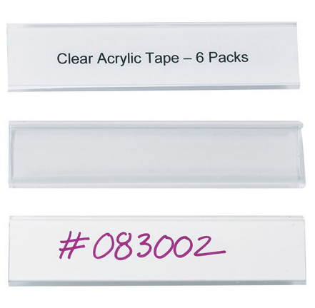 "label, 6""x1_5/16"", snap-on clear labeling for wire"