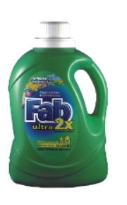Detergent,Liquid Laundry 2X Fab 50oz btl, 6/cs