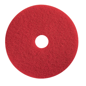 "Pad, 9.5"" Or 10"" Diam., Red Floor, 5 Pads/Case"