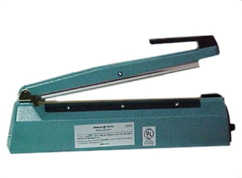 Impulse Sealer, Hand Operated, Cutting Knife, 10 mil Max