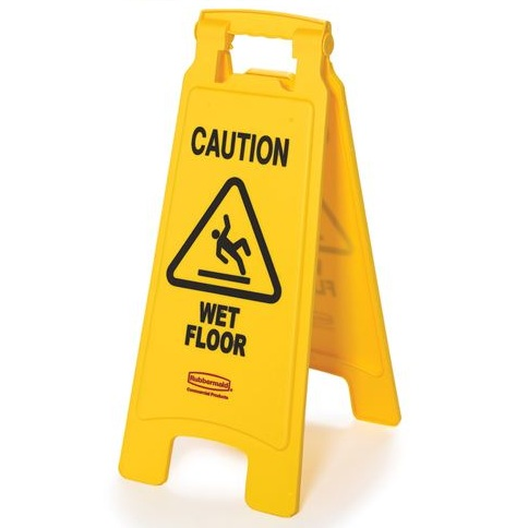 "Floor Sign,""Caution-Wet Floor"" (English Only) 2-Sided"