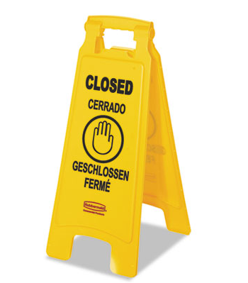 "Sign,""CLOSED"" , Multi-Lingual"