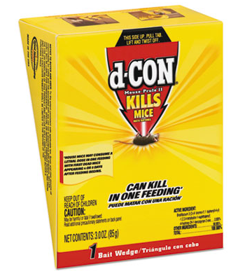 Dcon Mouse Prufe II, 12/3oz Poison To Kill Mice, 12/Skid