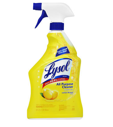 Lysol 4N1 all purpose cleaner disinfectant, Lemon scent,