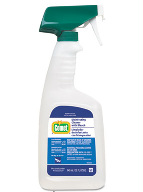 Comet Disinfecting Cleaner, P&G w bleach, 32 oz spray