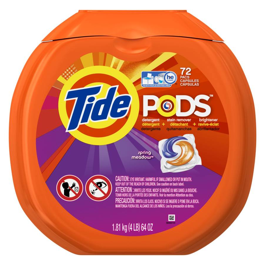 "Soap, Laundry, Tide Pods, ""Spring Meadow"" Scent,"